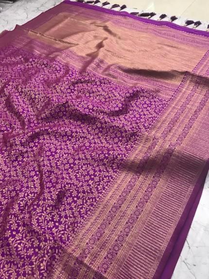 Magenta color saree