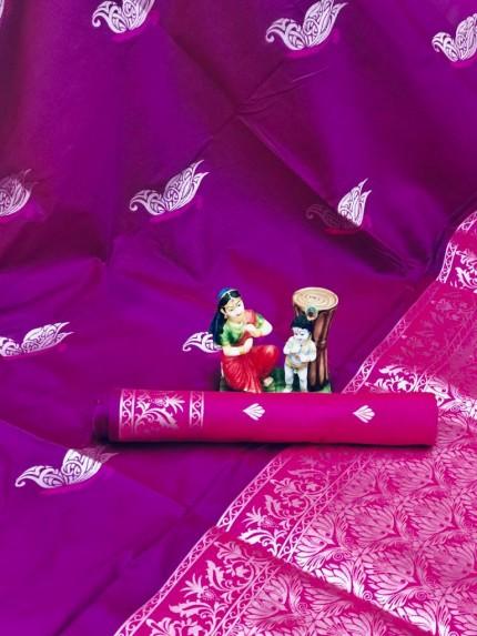 stylish stunning two tone saree