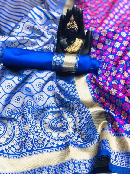 Blue  Sarees at Best Price by grabandpack