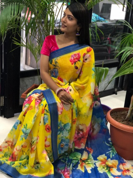 Linen sarees for party