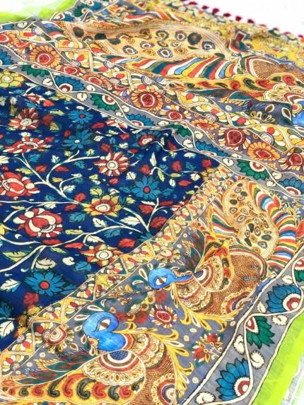 Trending Linen Printed Saree gnp009696