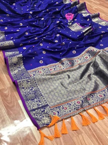Unique Banarasi Silk Saree in Blue