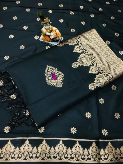 Black Wardrobe Special indian silk saree