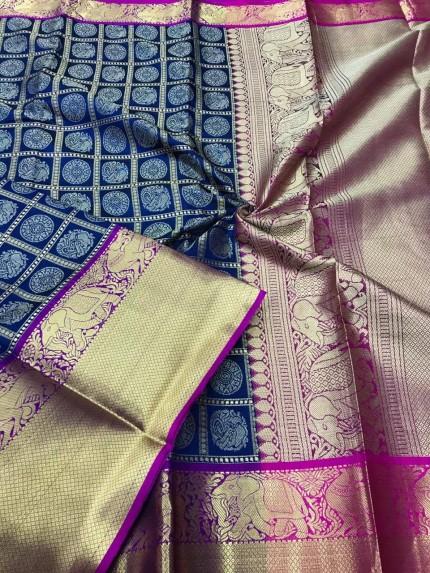 Blue color saree online india