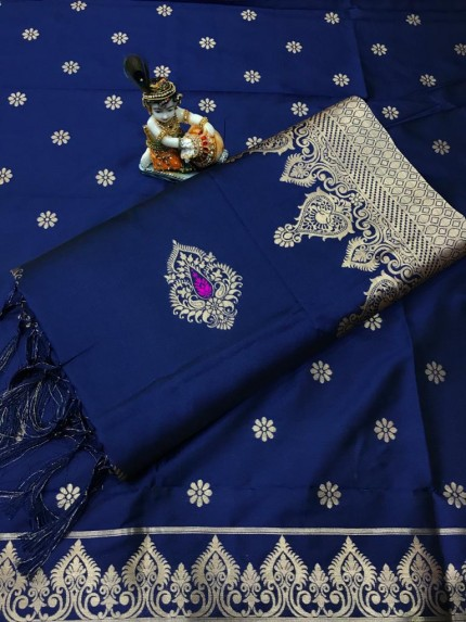 Women's Blue Wardrobe Special indian silk saree gnp010697