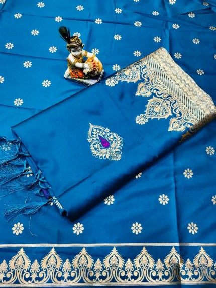 Blue Wardrobe Special indian silk saree