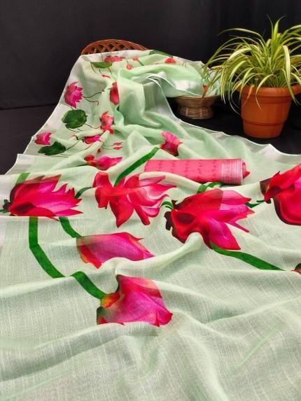 linen sarees online shopping