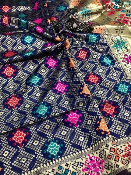 Gorgeous Blue Soft Banarasi silk saree by grabandpack