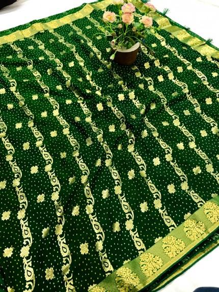 Green Coloured Chiffon saree