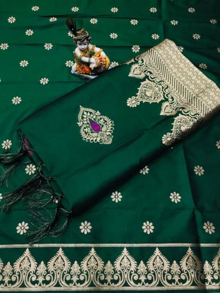 Women's Green Wardrobe Special indian silk saree