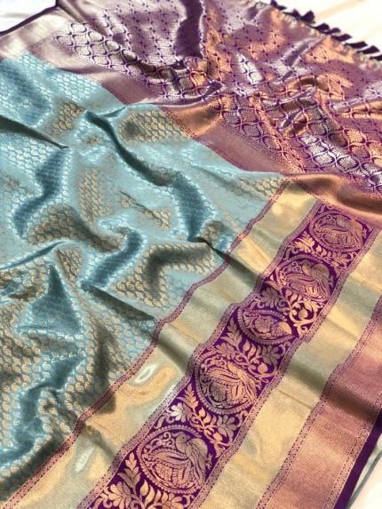 grey saree blouse online