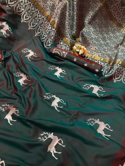 green silk saree online grabandpack