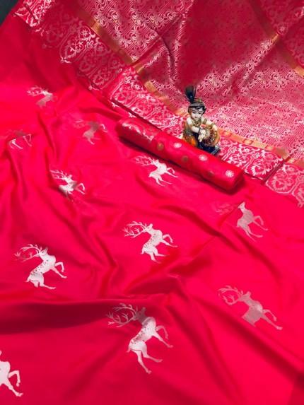 pink silk saree blouse designs