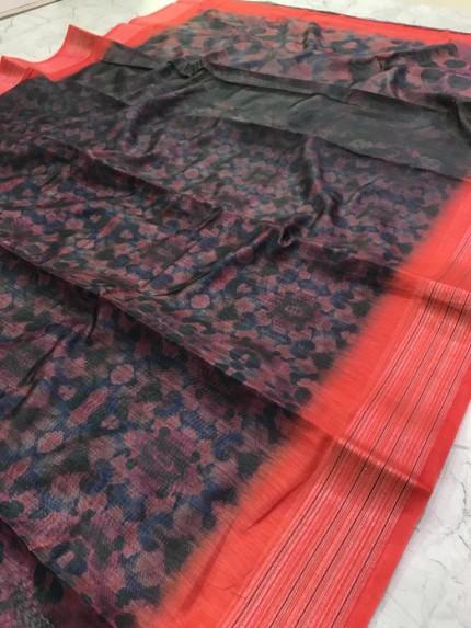 linen saree collection