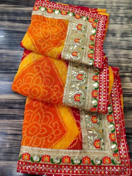 Bandhni Printed saree