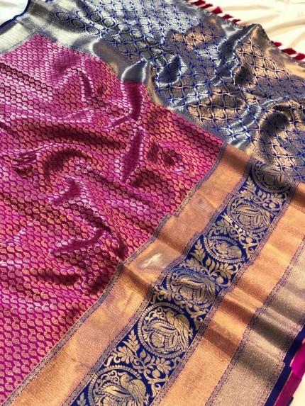 Pink Branded saree