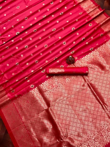 Pink Lichi Silk Traditional Saree at grabandpack