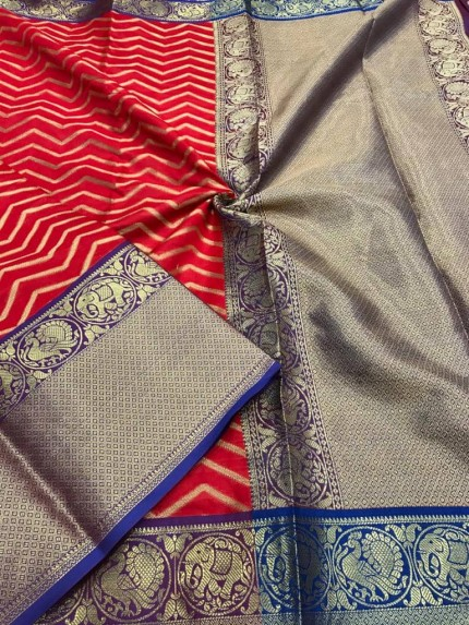Red Kanjivaram silk saree online