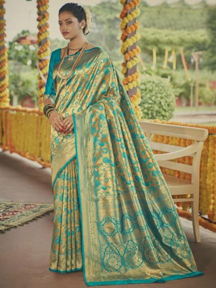 Stunning Paithani silk Silk Woven saree