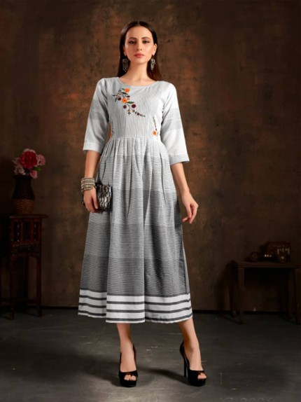 designer kurti cotton by grabandpack.com