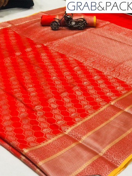 Jacquard woven saree in Purple gnp007592