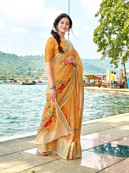 Trendy Printed cotton sarees online shopping - grabandpack