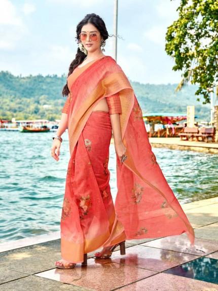soft cotton designer sarees