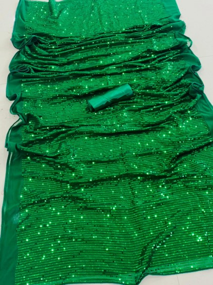 Bollywood Style Green Premium Georgette saree
