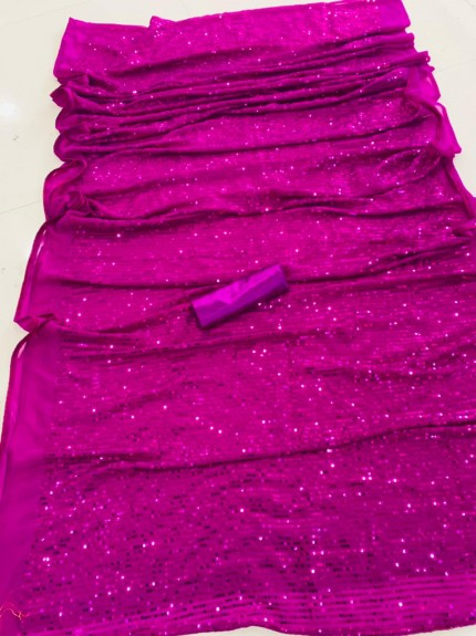 Bollywood Style Pink Premium Georgette saree