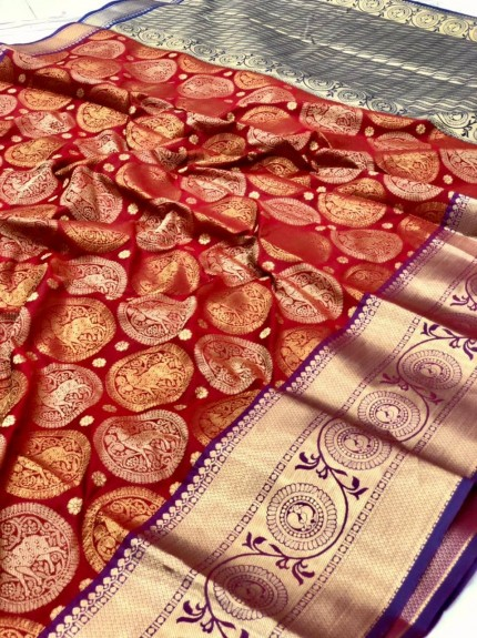 Kanchipuram silk saree #saree