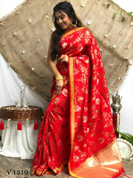 marriage Function special Maroon Soft Silk saree grabandpack
