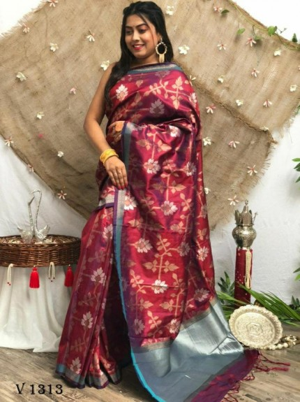 marriage Function special Purple Soft Silk saree grabandpack