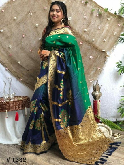 Party Wear Saree in Green