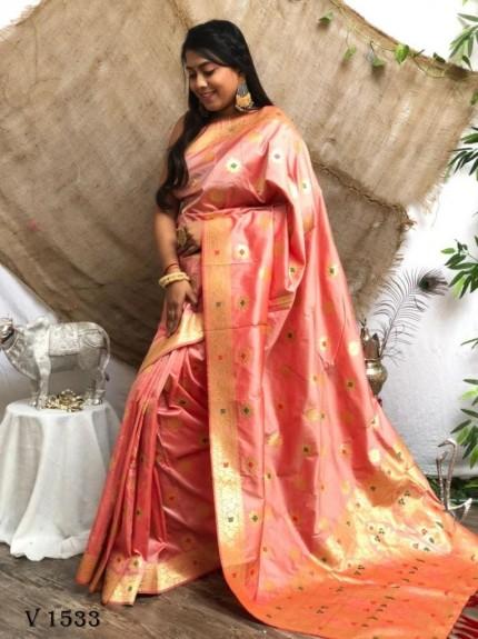 Soft Banarasi Silk Designer Wear Saree