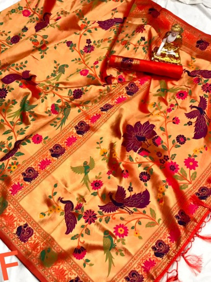 Pure Kanchipuram Paithani Silk Saree - gnp010076