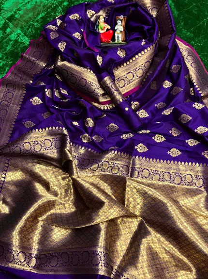 Purple soft silk sarees online shopping with price