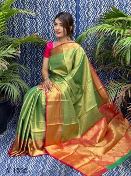 women's Green Banarasi Art silk Traditional saree