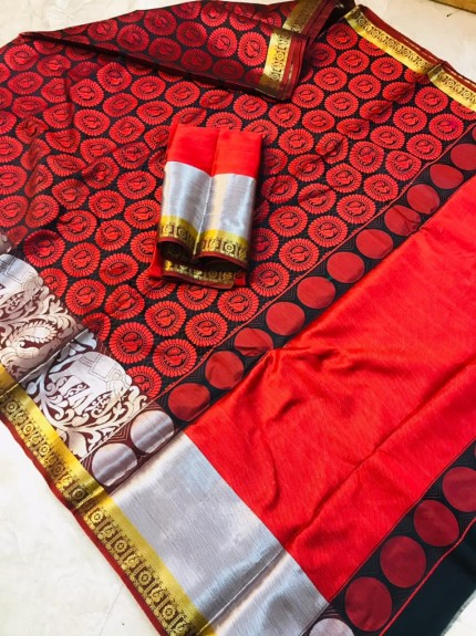 women's Beautiful Soft Kora Muslin Silk Saree