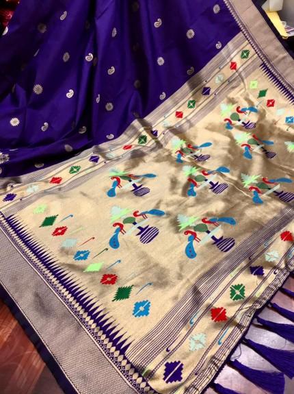 Purple Pure silk saree
