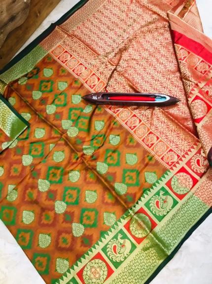 Women's Stylish Kanchipuram silk Woven saree