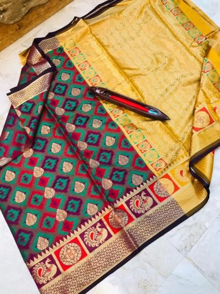 Kanchipuram silk Woven saree