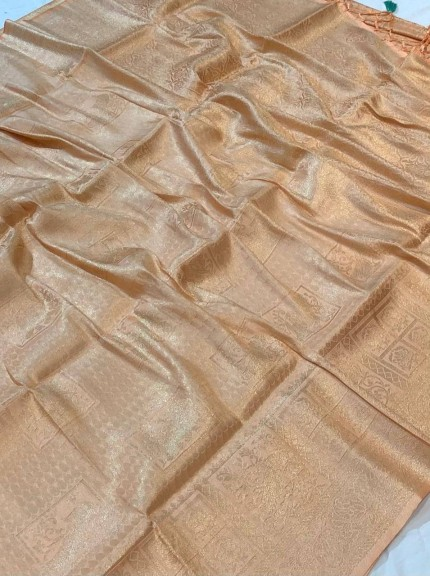 Premium Pure Banarasi Silk with pure Silver Jari work saree for marriage Function