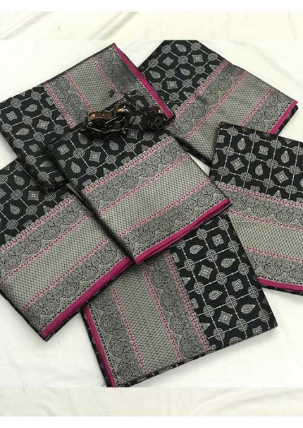 Women's Banarasi silk Weaving jacquard saree in Black gnp005880