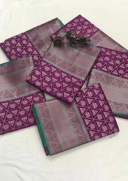 Women's Banarasi silk Weaving jacquard saree in Purple gnp005886