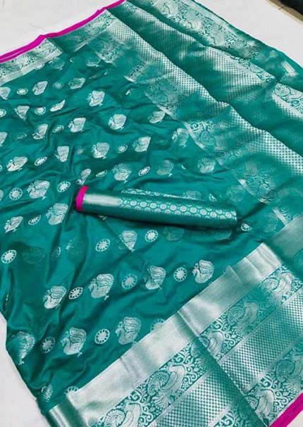 womens-lichi-silk-weaving-saree-in-sea-green-silk-sarees-online-gnp005985