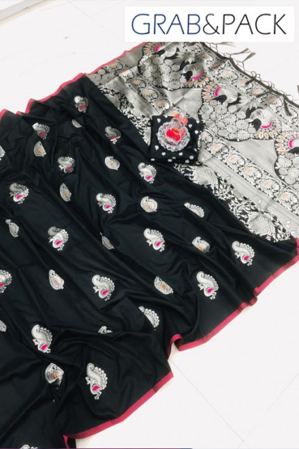 Black Banarasi silk sarees online with price