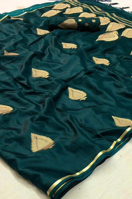 Green Pure Silk Weaving Saree - gnp007774
