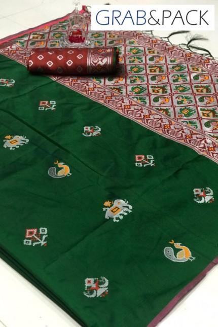 Woven Banarasi Jacquard Saree