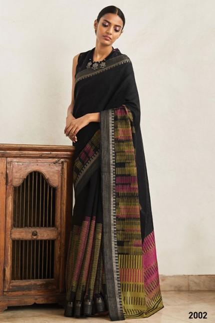 Multi Cotton Silk Saree with Beautiful Print - gnp007614