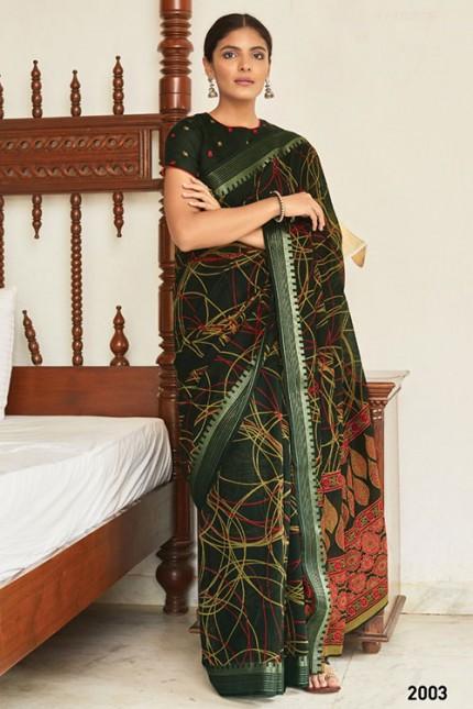 Multi Cotton Silk Saree with Beautiful Print - gnp007615